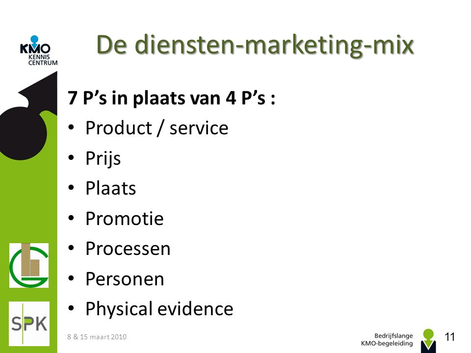 De diensten-marketing-mix