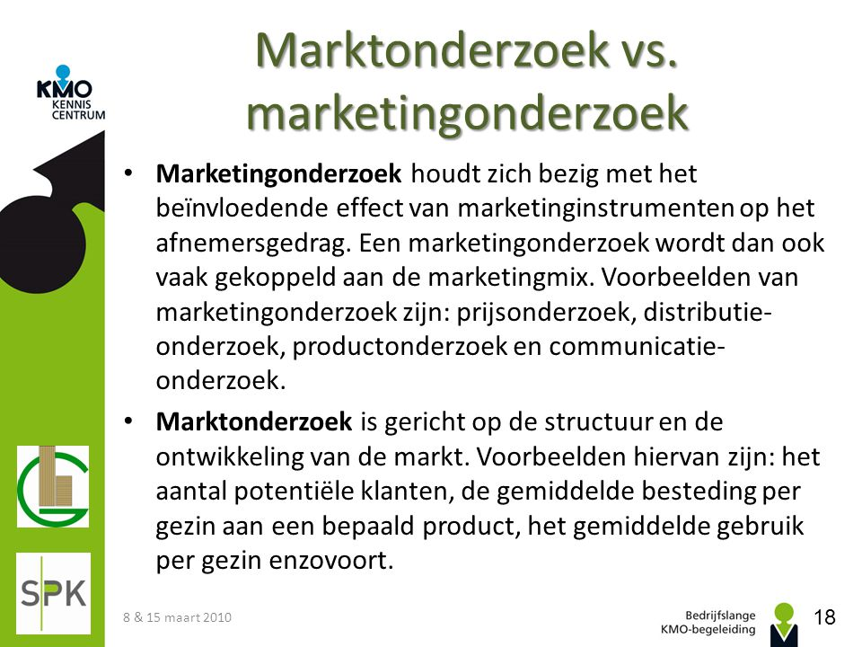 Marktonderzoek vs. marketingonderzoek