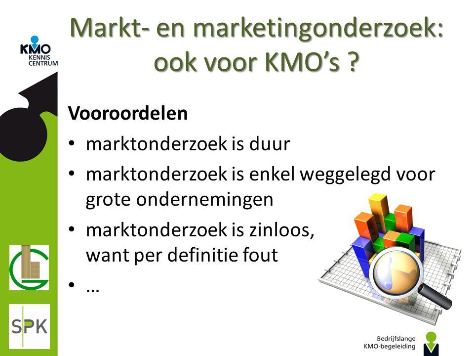 Markt- en marketingonderzoek: ook voor KMO's
