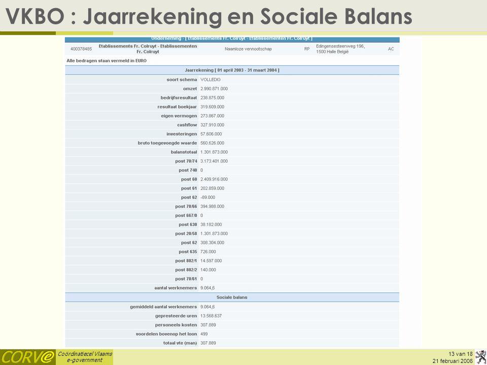 VKBO : Jaarrekening en Sociale Balans