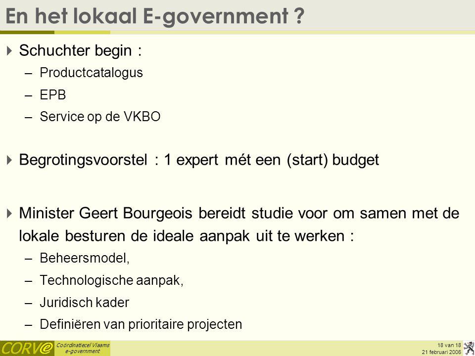 En het lokaal E-government