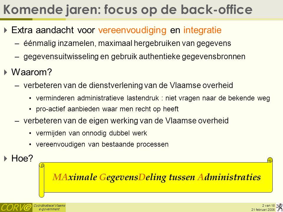 Komende jaren: focus op de back-office