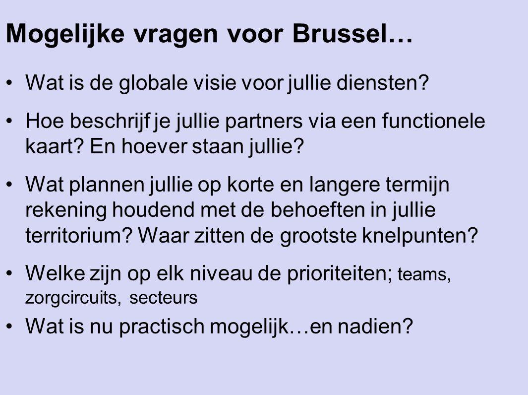 Mogelijke vragen voor Brussel…