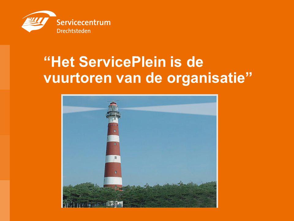 Het ServicePlein is de vuurtoren van de organisatie