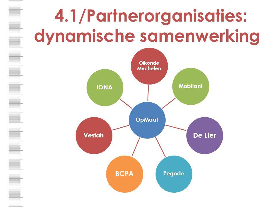 4.1/Partnerorganisaties: dynamische samenwerking