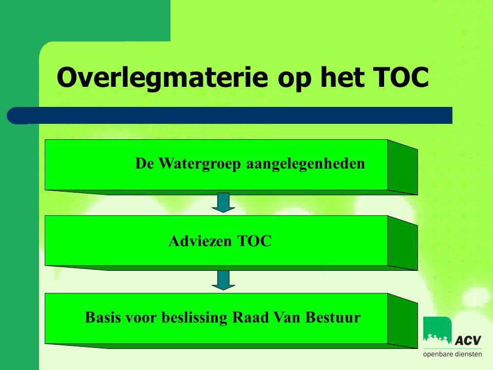 Overlegmaterie op het TOC