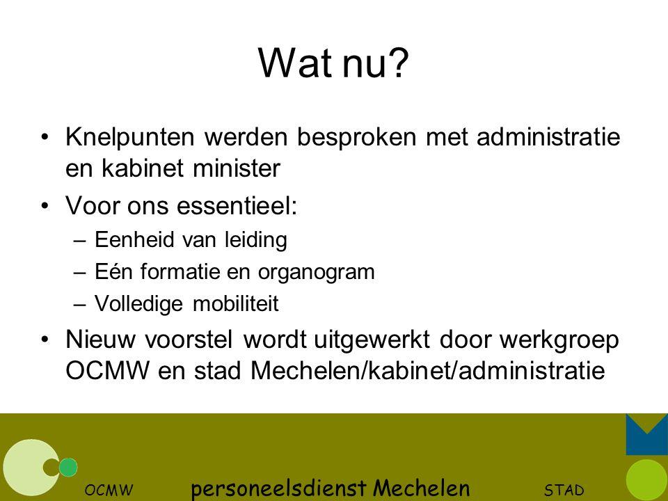 OCMW personeelsdienst Mechelen STAD
