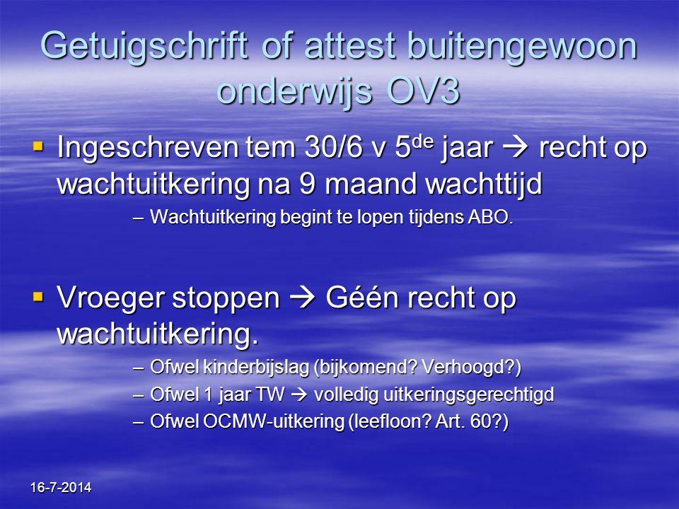 Getuigschrift of attest buitengewoon onderwijs OV3
