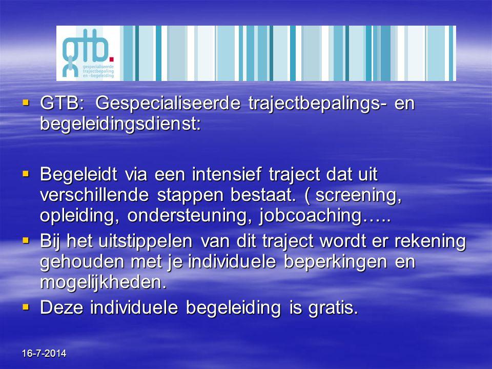 GTB: Gespecialiseerde trajectbepalings- en begeleidingsdienst: