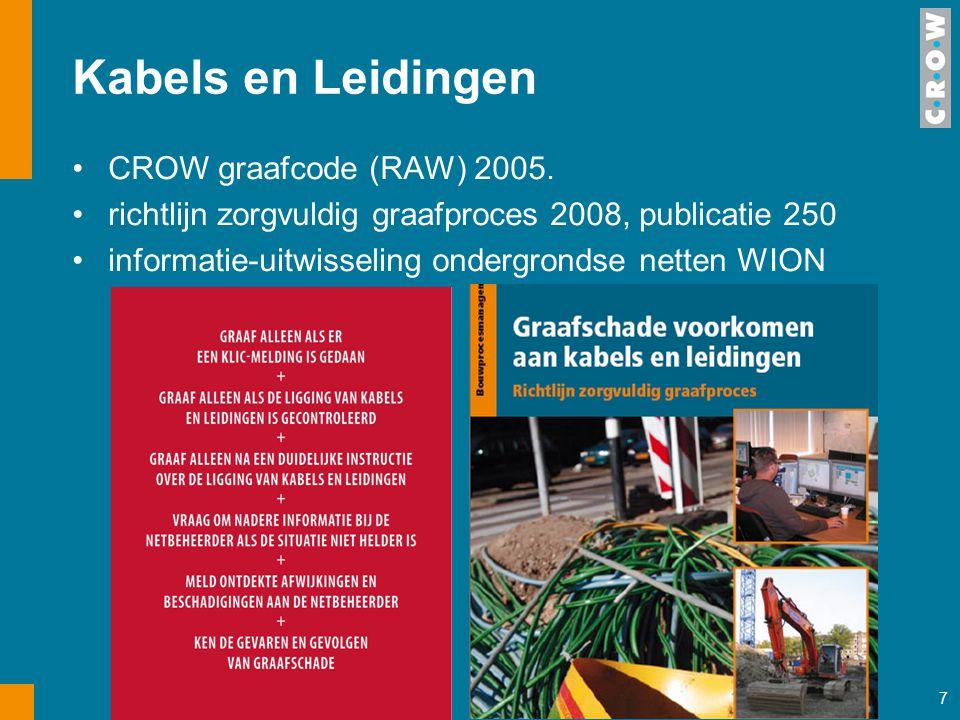 Kabels en Leidingen CROW graafcode (RAW) 2005.