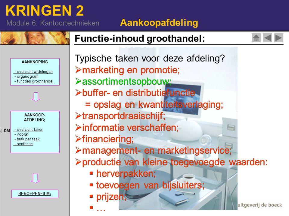 Functie-inhoud groothandel: