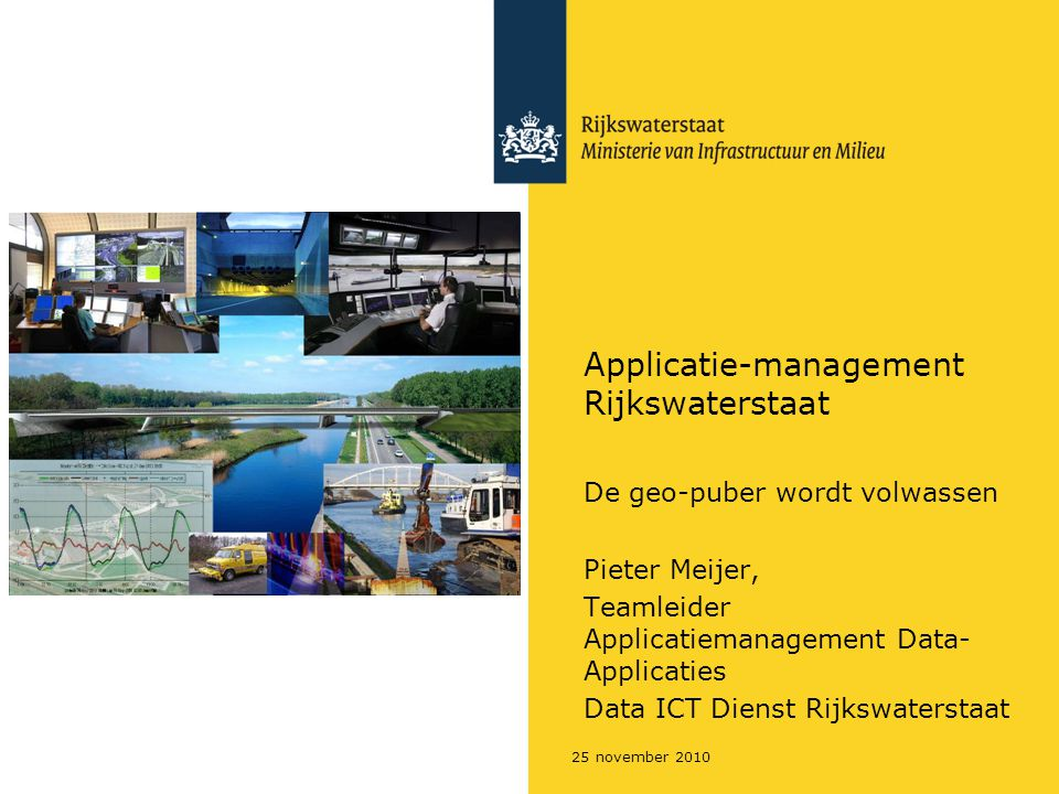 Applicatie-management Rijkswaterstaat