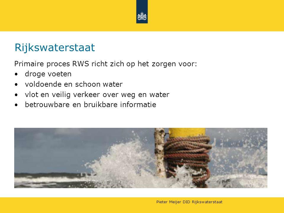 Rijkswaterstaat Primaire proces RWS richt zich op het zorgen voor: