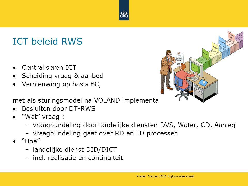 ICT beleid RWS Centraliseren ICT Scheiding vraag & aanbod