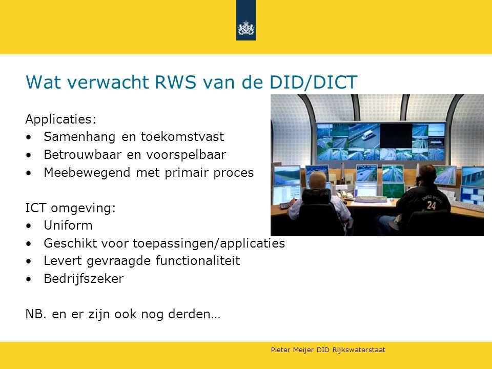 Wat verwacht RWS van de DID/DICT