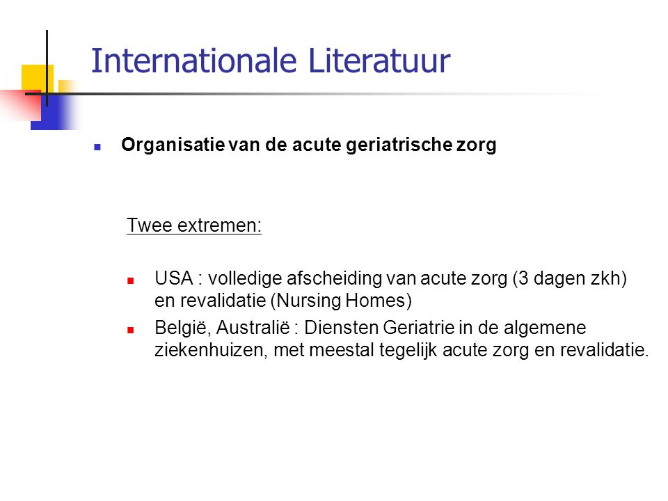 Internationale Literatuur