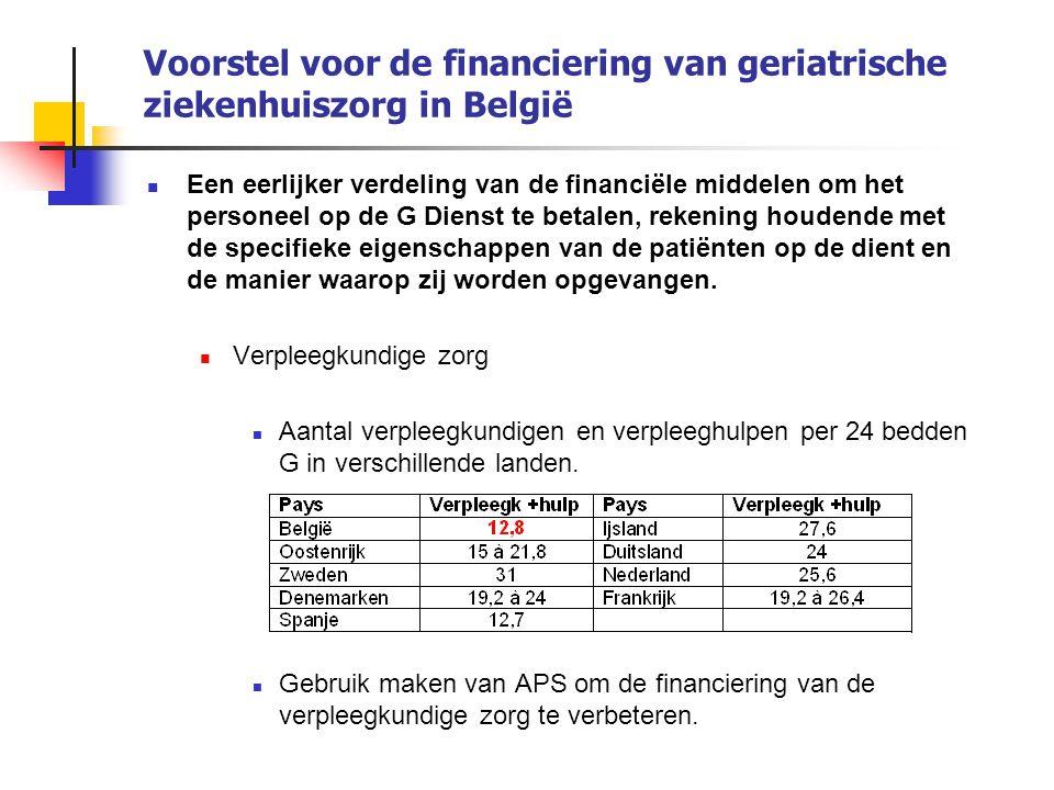 Voorstel voor de financiering van geriatrische ziekenhuiszorg in België