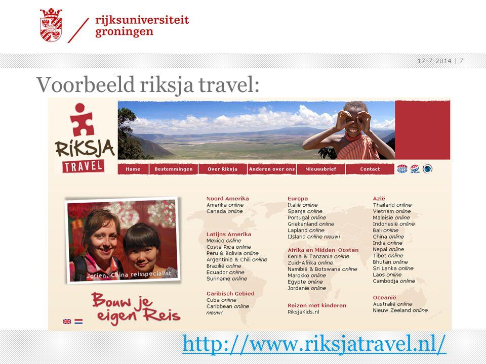 Voorbeeld riksja travel: http://www.riksjatravel.nl/