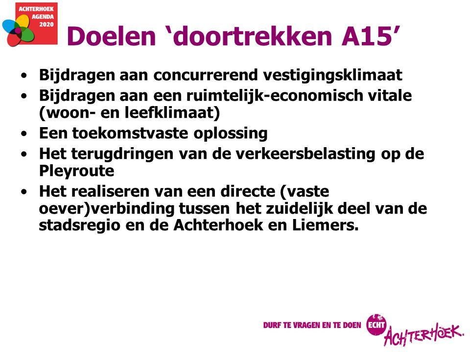 Doelen 'doortrekken A15'