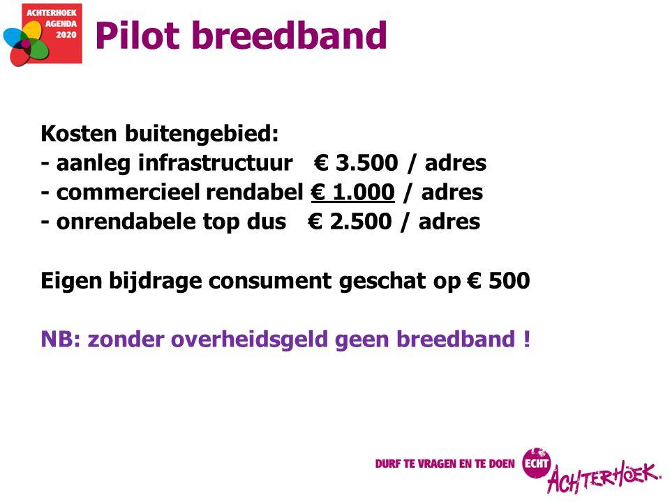 Pilot breedband Kosten buitengebied: