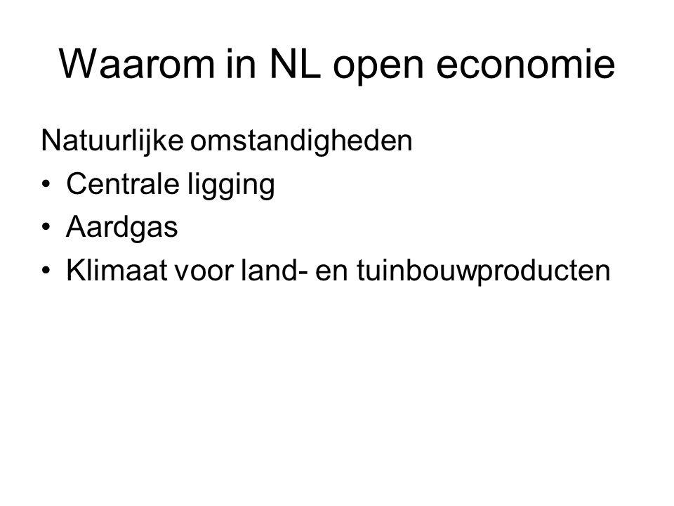 Waarom in NL open economie