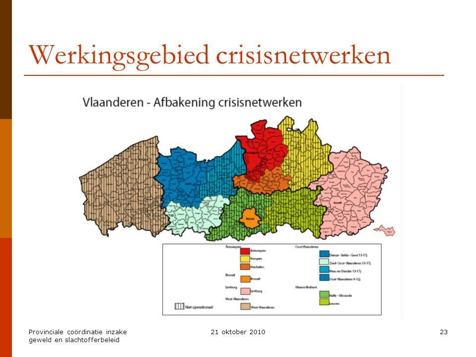 Werkingsgebied crisisnetwerken