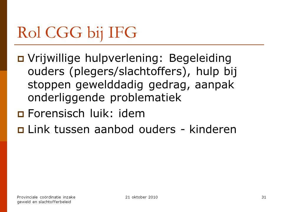 Rol CGG bij IFG