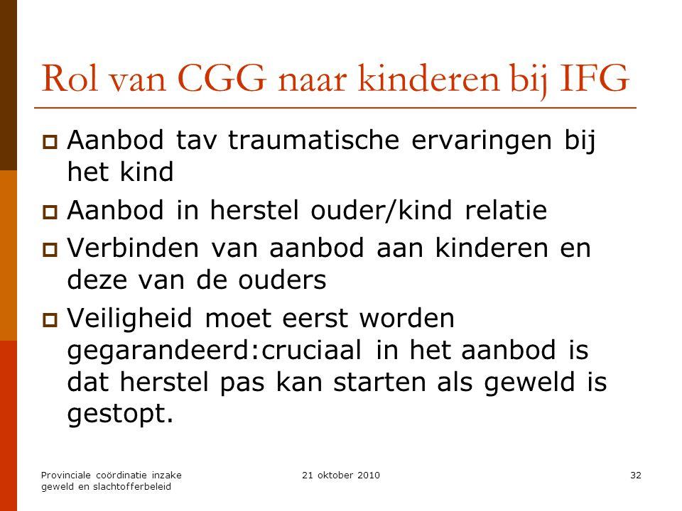 Rol van CGG naar kinderen bij IFG
