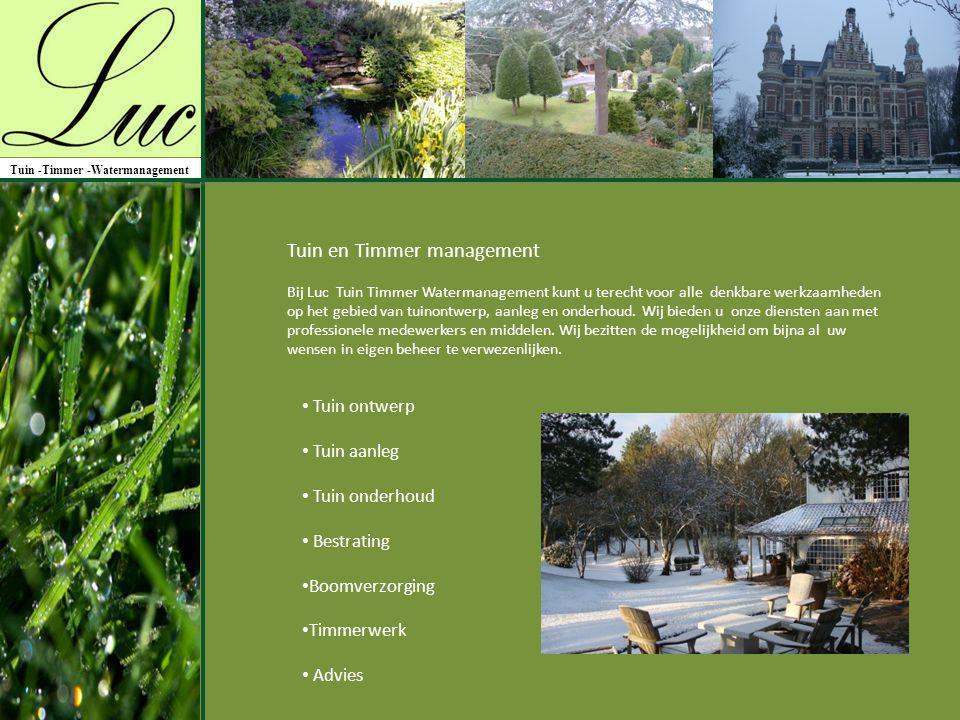 Tuin en Timmer management