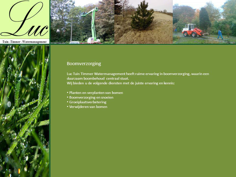 Tuin -Timmer -Watermanagement