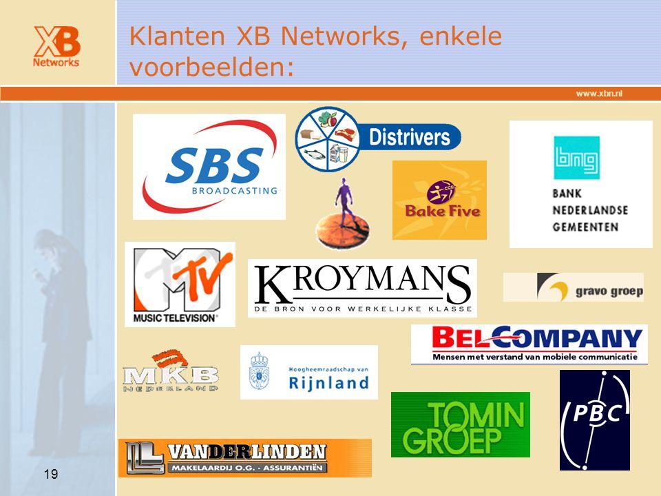 Klanten XB Networks, enkele voorbeelden: