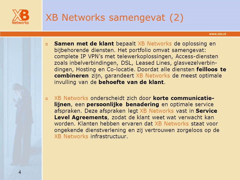 XB Networks samengevat (2)