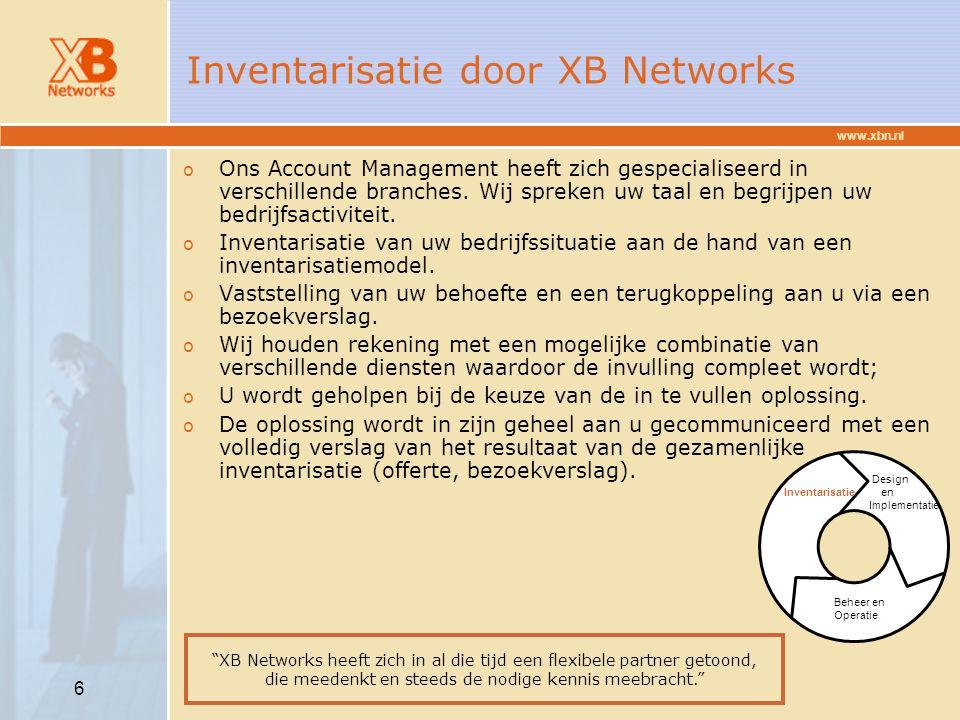 Inventarisatie door XB Networks