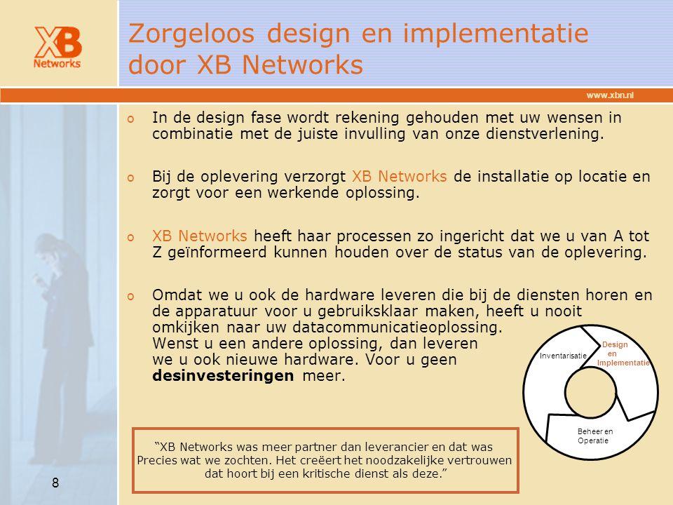 Zorgeloos design en implementatie door XB Networks