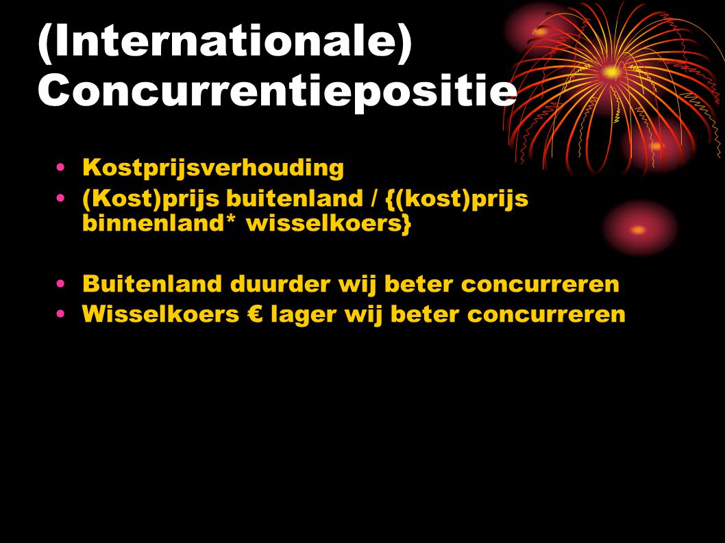 (Internationale) Concurrentiepositie