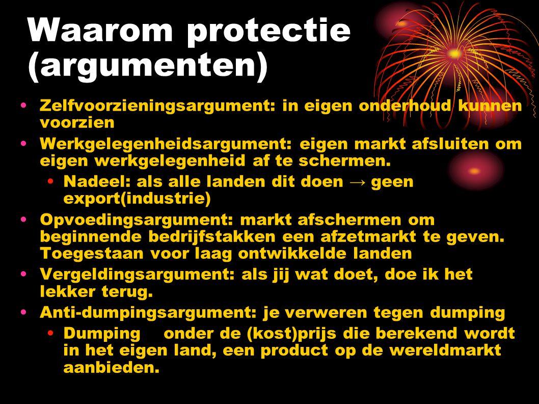 Waarom protectie (argumenten)