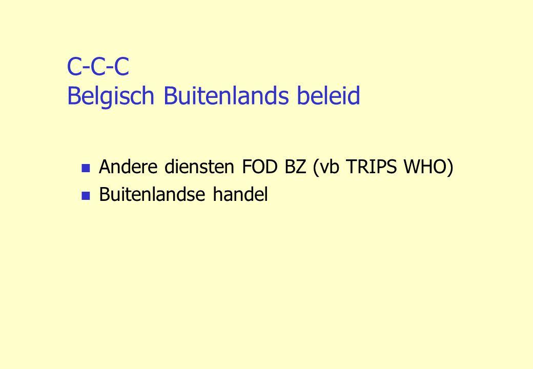 C-C-C Belgisch Buitenlands beleid