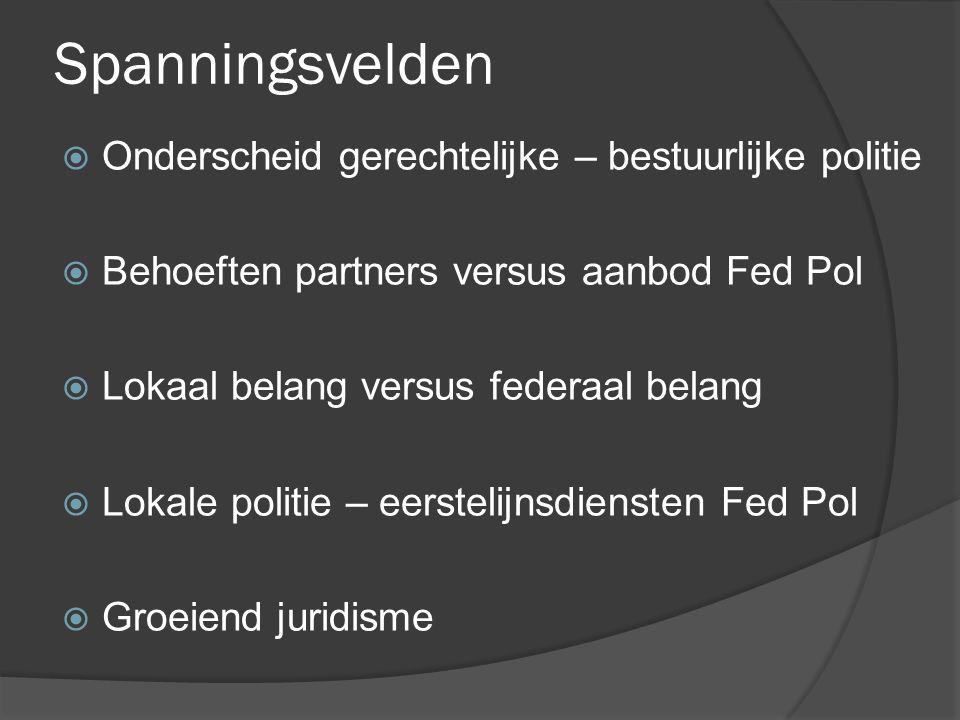 Spanningsvelden Onderscheid gerechtelijke – bestuurlijke politie