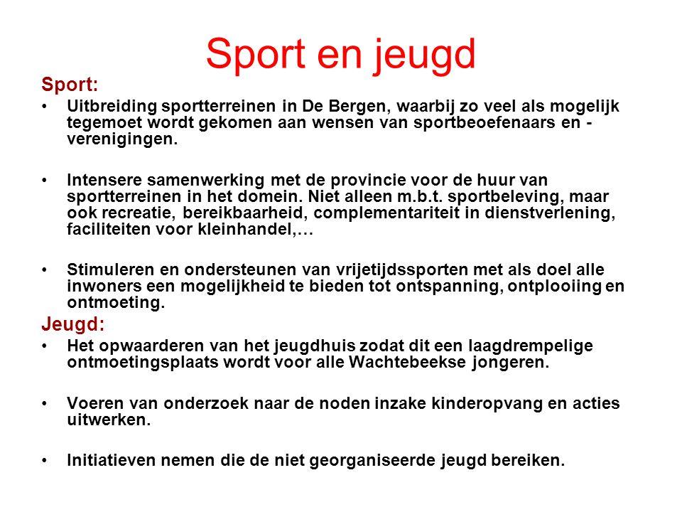 Sport en jeugd Sport: Jeugd: