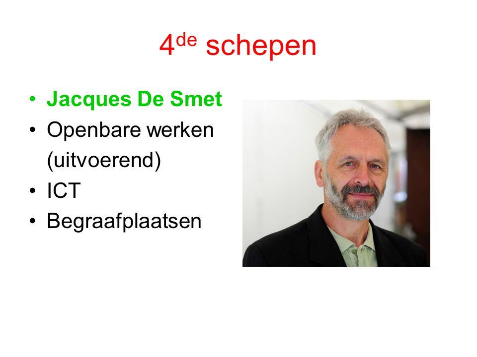 4de schepen Jacques De Smet Openbare werken (uitvoerend) ICT