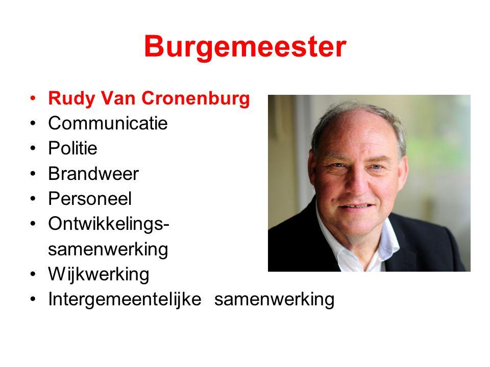 Burgemeester Rudy Van Cronenburg Communicatie Politie Brandweer