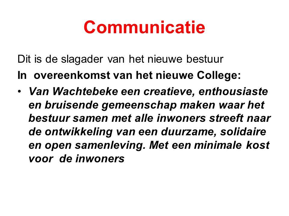 Communicatie Dit is de slagader van het nieuwe bestuur