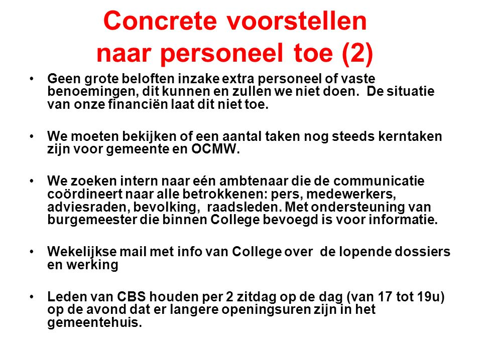 Concrete voorstellen naar personeel toe (2)