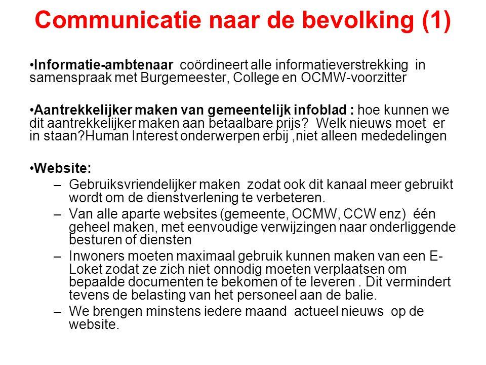 Communicatie naar de bevolking (1)