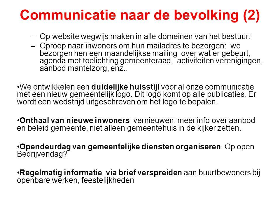 Communicatie naar de bevolking (2)