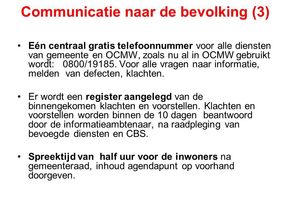 Communicatie naar de bevolking (3)