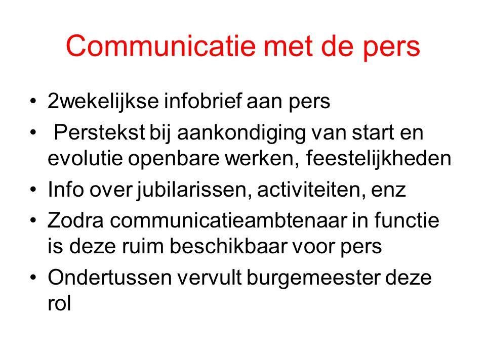 Communicatie met de pers