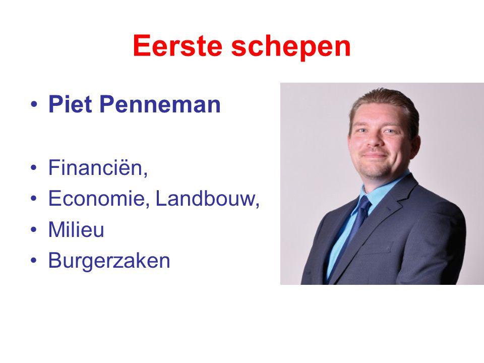 Eerste schepen Piet Penneman Financiën, Economie, Landbouw, Milieu