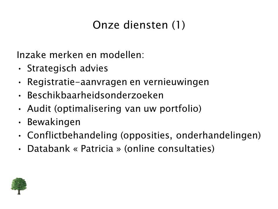 Onze diensten (1) Inzake merken en modellen: Strategisch advies