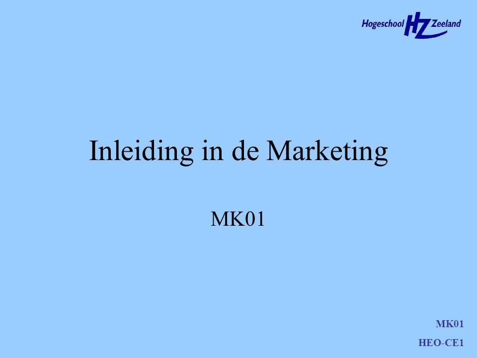 Inleiding in de Marketing